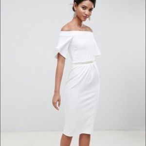 New with tags silver bloom ASOS bandeau midi dress